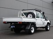 2014 Toyota Landcruiser VDJ79R MY13 Workmate Double Cab White 5 Speed Manual Cab Chassis Maddington Gosnells Area Preview