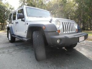 2007 Jeep Wrangler JK Unlimited Sport Silver 6 Speed Manual Softtop Underwood Logan Area Preview
