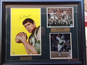 Joe Namath 1965 Rookie Card Lithograph