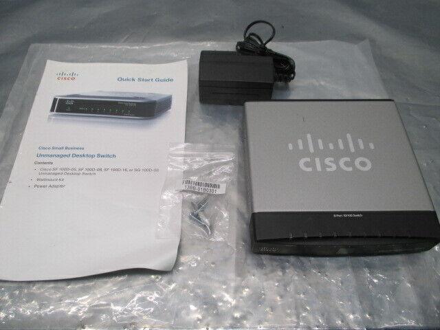 Cisco SD208 8 Port 10/100 Unmanaged Desktop Switch, v1.2, 100389