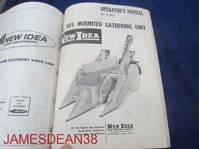 Operators Owners Manual New Idea No 305 Mounted Gathering Unit P 200 6