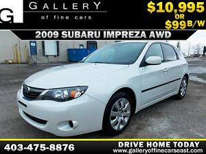 2009 Subaru Impreza 2.5i AWD $99 bi-weekly APPLY NOW DRIVE NOW