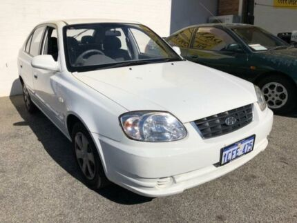 2004 Hyundai Accent LC MY04 GL White 4 Speed Automatic Hatchback Kelmscott Armadale Area Preview