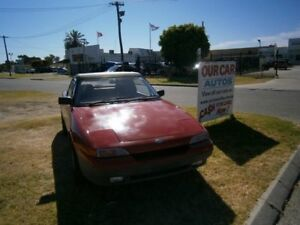 1990 Ford Capri Red Automatic Convertible