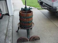 Vintage grape wine juice press. Oak and cast.