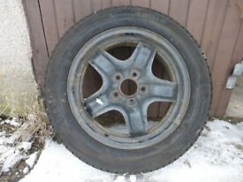 Winter tyres on steel rims to fit Ford Focus 205/55 R16