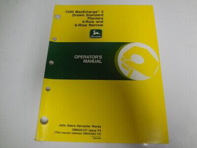 John Deere 7200 Maxemerge 2 46 Row Drawn Planters Operators Manual Oma54137 F4