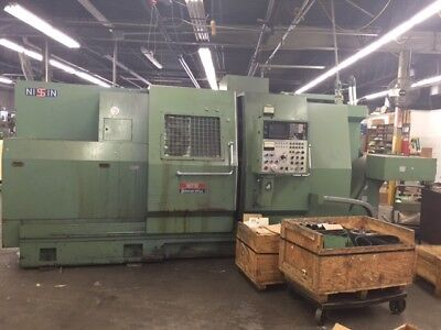 Nissin Model Nst-30125 2tsc 4 Axis Cnc Lathe With Fanuc 11tt Control