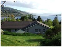 Self Catering House with Stunning Views over Loch Tay