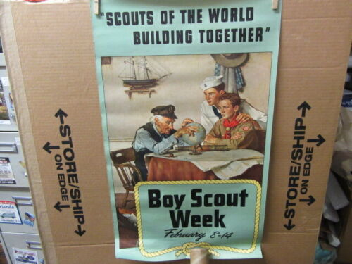 Scouts of the World Building Together, Boy Scout Week Poster      ptr2
