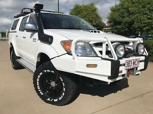 2006 Toyota Hilux KUN26R MY05 SR5 White 4 Speed Automatic Utility Garbutt Townsville City Preview