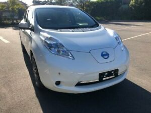 2014 Nissan Leaf ZE0 White Automatic Hatchback Five Dock Canada Bay Area Preview