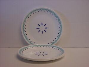 4 Corelle Santorini Sky Luncheon Plates 8-1/2