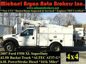 2007 FORD F550 42.5FT BUCKET TRUCK *4X4* ARTICULATED/INSULATED