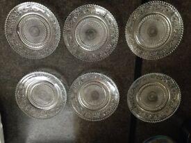6 Small dessert plates - home made