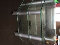 Glass 3 tier TV stand. Never used