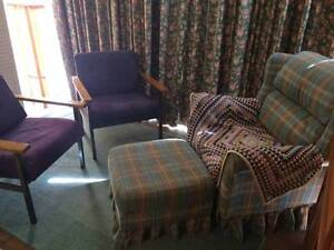 3 x Armchairs and Footstool Hobart CBD Hobart City Preview