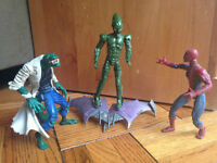 3 Spiderman classic moveable figures