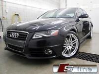 2012 Audi A4 S-LINE Premium NOIR / NOIR CUIR 66,000KM QUATTRO