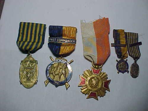 5 Masonic Medal & Ribbon Vintage SEE PHOTOS