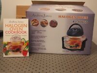 Halogen Oven - Andrew James Model AJ-606GD Black - with cookbook