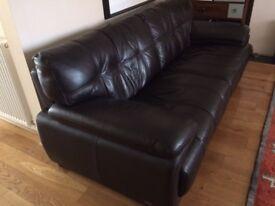 Leather Three Seat Sofa