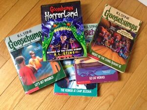 Goose Bump books and Magic Tree House books