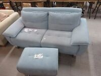 FLING SKY 700 3 SEATER SOFA BED + FOOTSTOOL Cost New £1500. This As New...