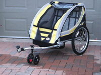 Bell Double Bike Trailer & Jogging Stroller Combo
