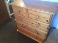 Bargain chest of drawers and x2 sideboards in pine