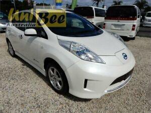2014 Nissan Leaf AZE0 G Pearl White Reduction Gear Hatchback Moorabbin Kingston Area Preview