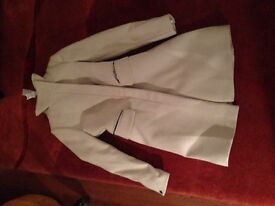 Lovely fitted stylish brand new size 10 funnel neck cream coat