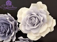 HANDMADE ICING SUGAR ROSE EXT.LARGE WITH DUST/OMBRE/GLITTERS/CAKE TOPPERS,DECORATIONS