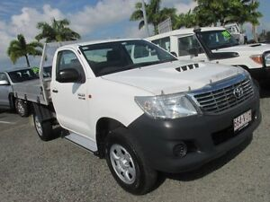 2012 Toyota Hilux KUN16R MY12 Workmate White 5 Speed Manual Cab Chassis Mackay Mackay City Preview
