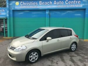 2011 Nissan Tiida C11 Series 3 MY10 ST Champagne 4 Speed Automatic Hatchback Christies Beach Morphett Vale Area Preview