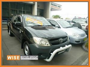 2006 Toyota Hilux TGN16R MY05 Workmate Black 5 Speed Manual Utility Granville Parramatta Area Preview