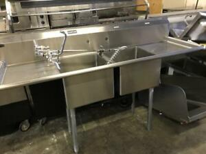 Double pot sink - Government approved