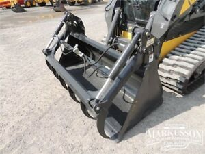 "HLA 72"" Standard SSL Bucket with Utility Grapple - Skid Steer"
