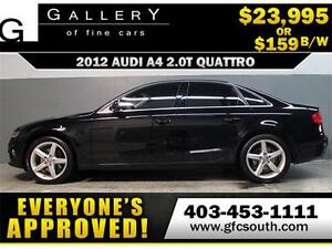 2012 AUDI A4 2.0T QUATTRO *EVERYONE APPROVED* $0 DOWN $159/BW!