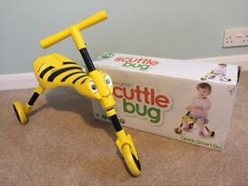 Scuttle bug - fun three wheeled ride on toy for 1-3 year olds