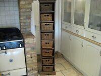 Wooden tall storage unit