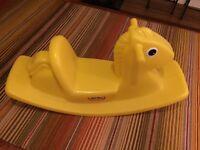 Toddler toy bundle (rocking horse, play tent, megabloks and table)