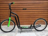 "Full size ""scootex"" type scooter with brakes & BMX wheels"