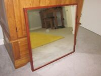 IKEA STAVE Mirror (70cm x 70cm) Dark Wood Finish