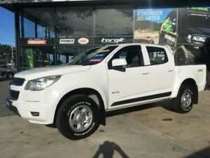 2013 Holden Colorado RG MY14 LX (4x4) White 6 Speed Automatic Crew Cab Pickup Tuncurry Great Lakes Area Preview