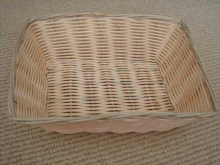 Wicker hamper baskets in townsville region qld home garden rectangular woven wicker basket for display medium size negle Images