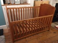 FOR SALE: Tutti Bambini Alexia Drop side Cot Bed - Pine