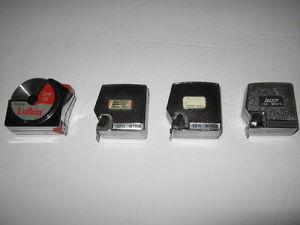 4 Lufkin antique Tape Measures
