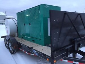 Cummins Genset and Tandem Axle Trailer