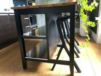 IKEA Black Kitchen Island side panels